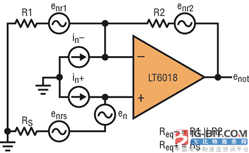 图2:运放电路噪声源