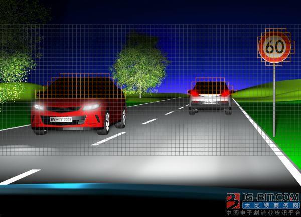 Eviyos 原型是全球首个可控高分辨率混合 LED。一旦发现前方有车辆驶来,会自动关闭相应的像素,避免迎面车辆驾驶者目眩。