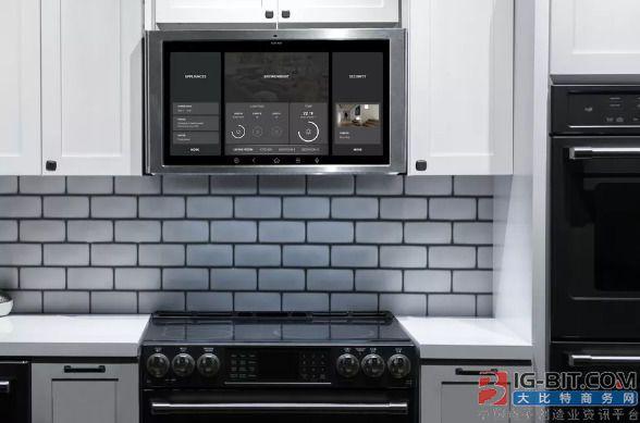 通用家电最新的厨房电器是一款27英寸平板电脑