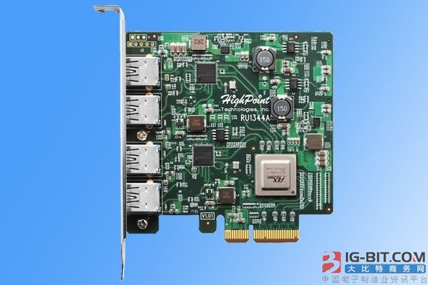 插满不掉速!HighPoint第二代扩展卡发布:4个USB3.1