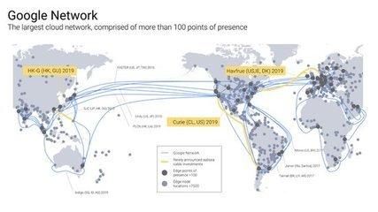 谷歌宣布明年新建三条海底光缆 扩展全球云计算业务