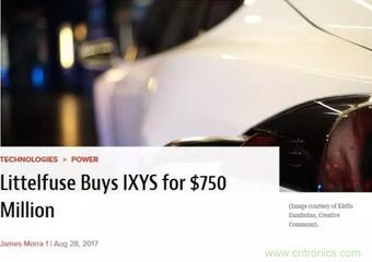 Littelfuse完成对高压功率控制半导体公司IXYS收购