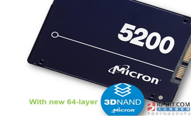 企业级SATA固态硬碟率先採用64层3D NAND