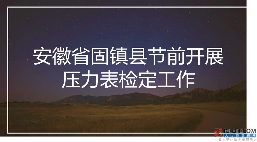 安徽省固镇县节前开展压力表检定工作