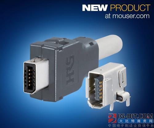 Hirose IX Industrial系列I/O连接器在贸泽开售