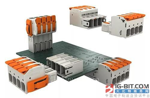 WAGO带有操作杆的接插式大功率PCB连接器
