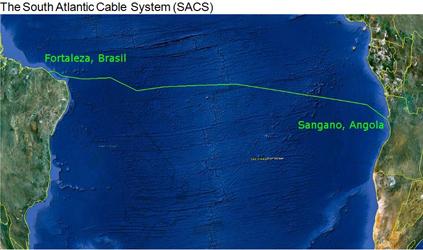 连接非洲和南美洲的南大西洋海底光缆系统成功登陆巴西