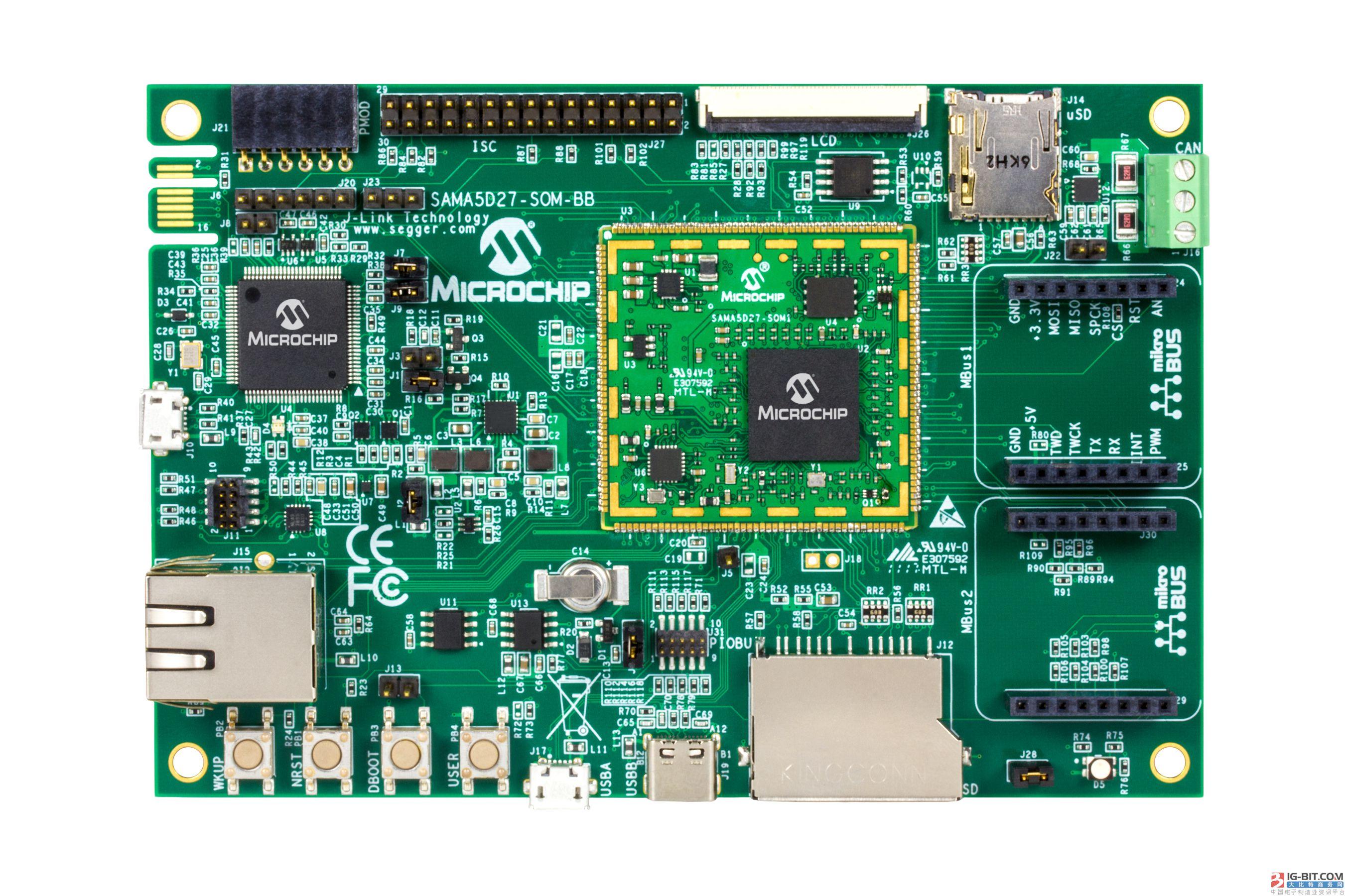 Microchip通过基于SAMA5D2 MPU的系统模块简化工业级Linux®的设计