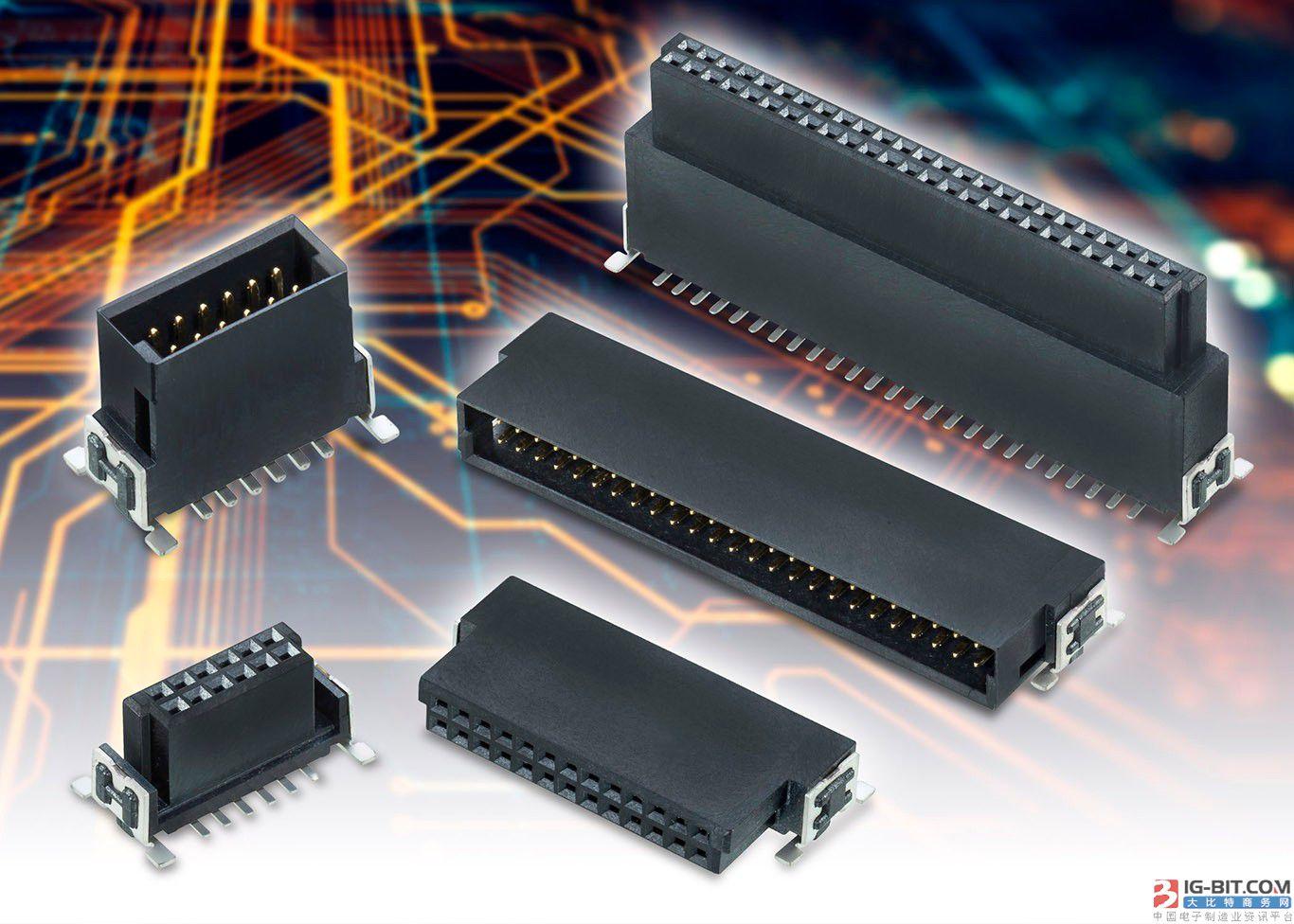 Harwin全新耐用、多功能和可堆叠的高密度板对板连接器