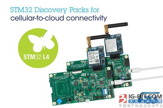 意法半导体新STM32探索套件可简化移动网至云端连接