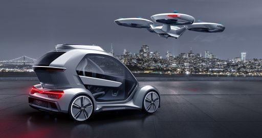 奥迪空客联手研发客运无人驾驶飞机/电动汽车混载技术