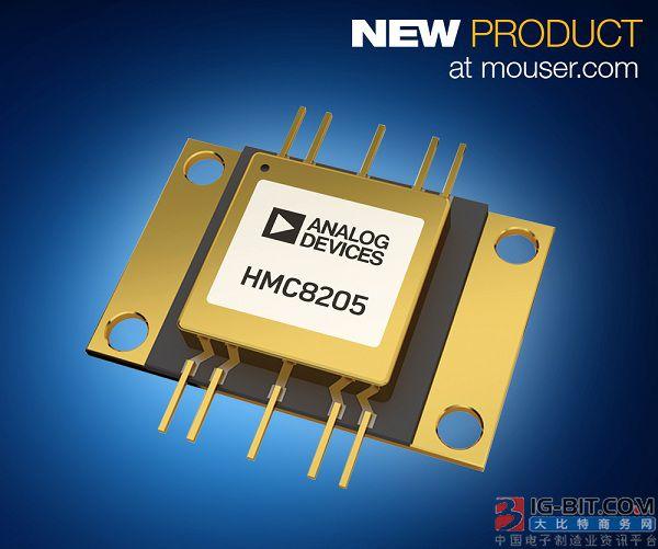 贸泽电子开售Analog Devices HMC8205 GaN功率放大器