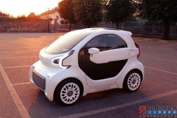 LSEV号称将成为世界上第一款大规模量产的3D打印电动汽车