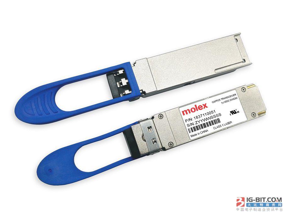 Molex 首次推出基于 100G PAM-4 的 25G/50G/100G/400G 产品解决方案