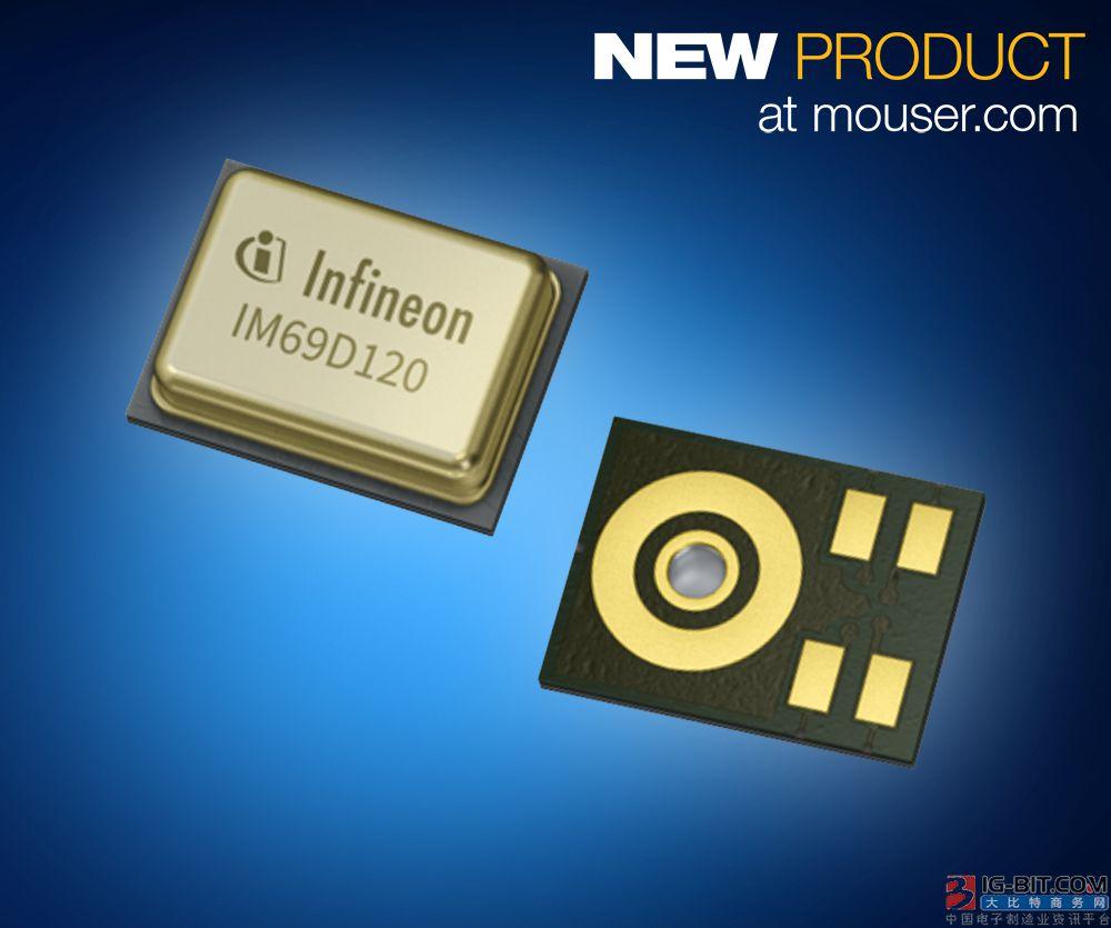 Infineon新款XENSIV MEMS麦克风在贸泽开售  可在更远距离接收语音指令