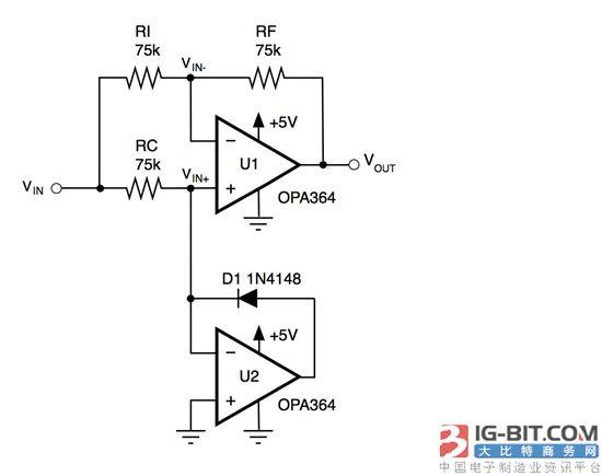为了让该电路能够正常工作,运算放大器输出必须在没有相位反相的情况
