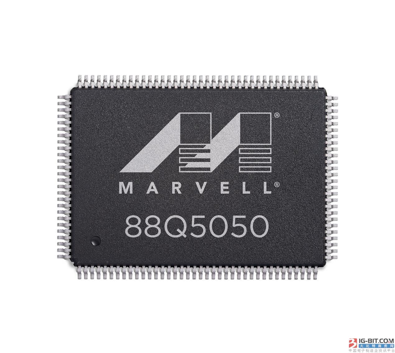 Marvell宣布其业界首款汽车级安全以太网交换芯片