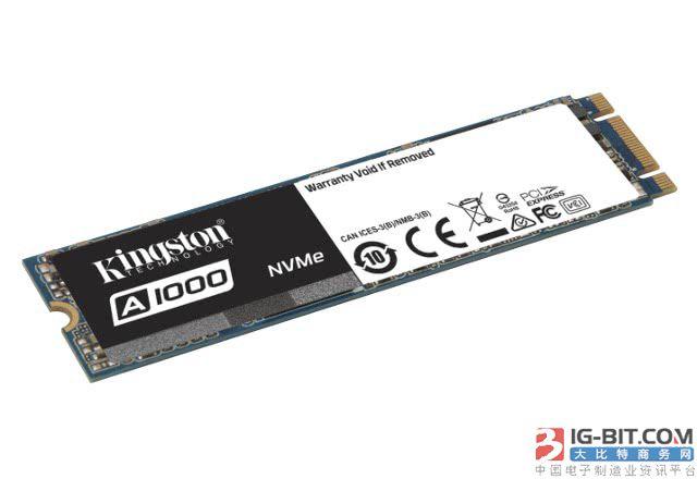 金士顿发布实惠型A1000系列PCIe NVMe SSD新品