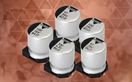 Vishay推出新款导电和混合导电铝聚合物电容器,可节省PCB空间及降低成本