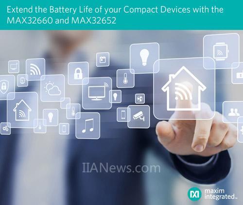Maxim发布最新低功耗微控制器,有效延长可穿戴等便携设备的电池寿命