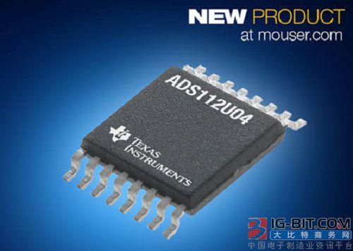 贸泽开售TI低功耗ADC ADS112U04