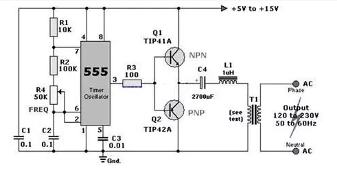 3 kinds of 555 common and classical circuit pursue