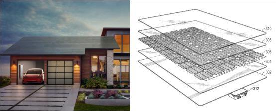 特斯拉新专利:能伪装成普通屋顶的太阳能电池面板