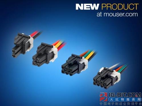 贸泽电子即日起备货Molex的Mini-Fit TPA 2电源连接器和电缆组件