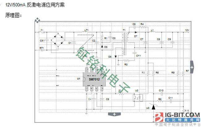 可PWM控制的LED电源芯片SM7012应用技术方案