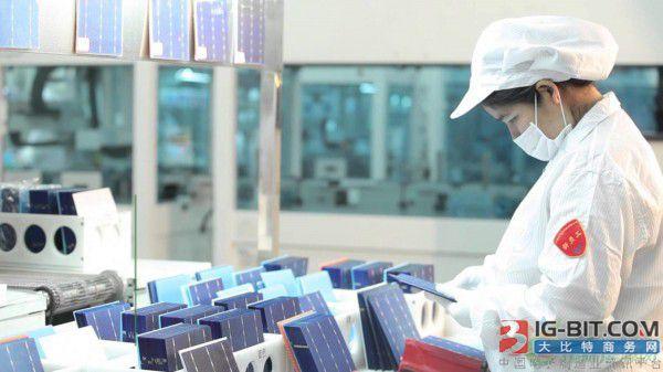 晶科能源p型太阳能电池转换效率达23.95%