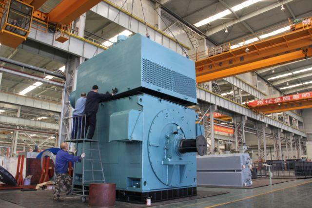 国内首台中心高1250mm绕线电动机研制成功