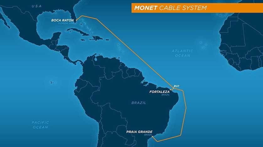 美国-拉丁美洲海底光缆系统Monet建成投产