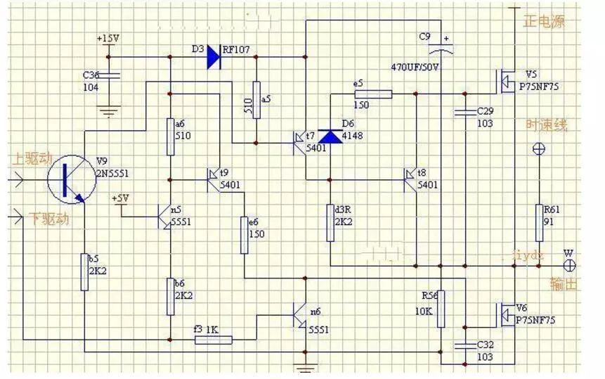 电动车无刷电机控制器驱动电路图