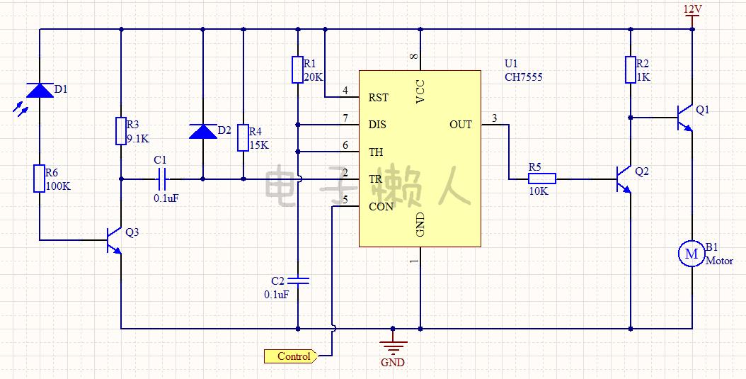 直流电机转速控制电路