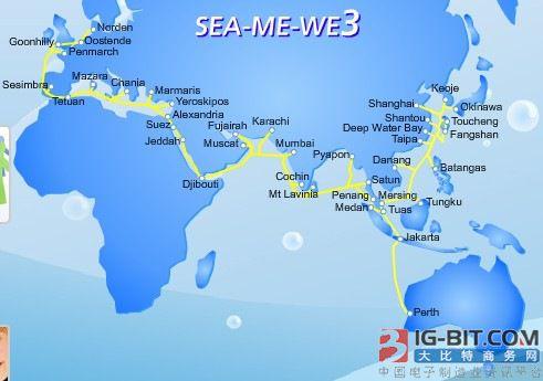 SeaMeWe-3海底光缆因故障暂停运营 恢复时间未定