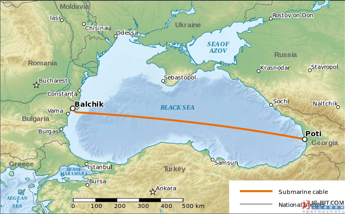格鲁吉亚-保加利亚海底光缆系统将扩容5Tbps