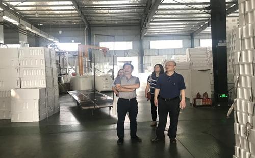 德阳市商务局走访调研德阳帛汉电子