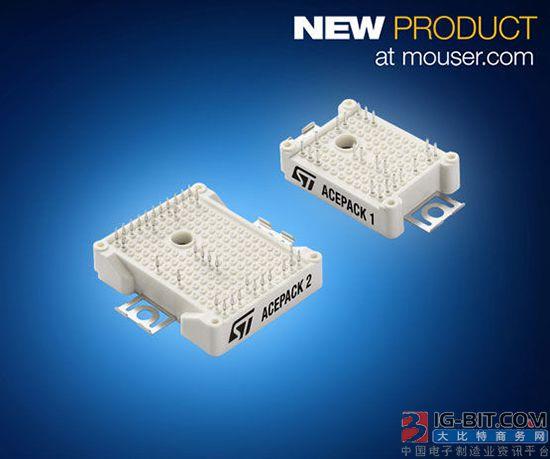 贸泽开售专用于工业应用的ST ACEPACK IGBT模块