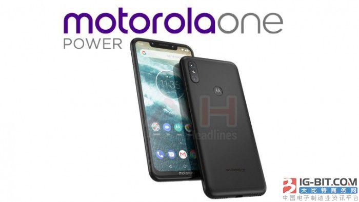 Moto新机One Power曝光:刘海屏+后置指纹识别