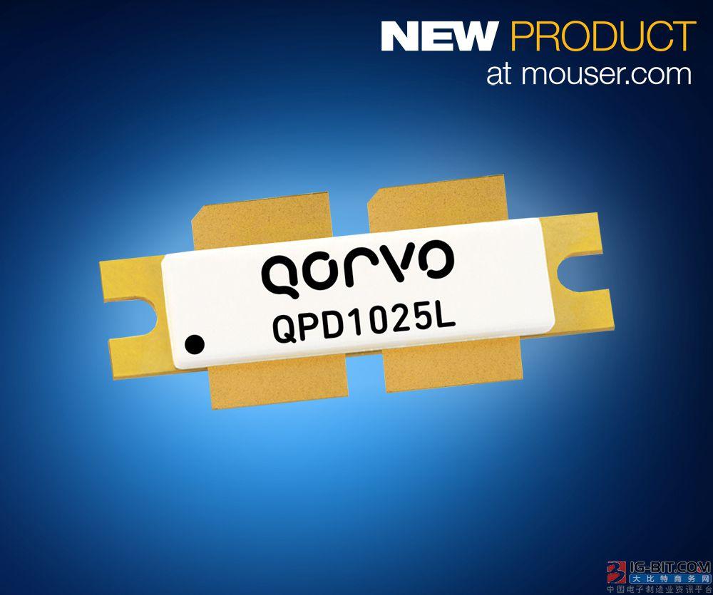 贸泽备货Qorvo 1800W QPD1025L碳化硅基氮化镓晶体管 为航空电子设备提供理想选择