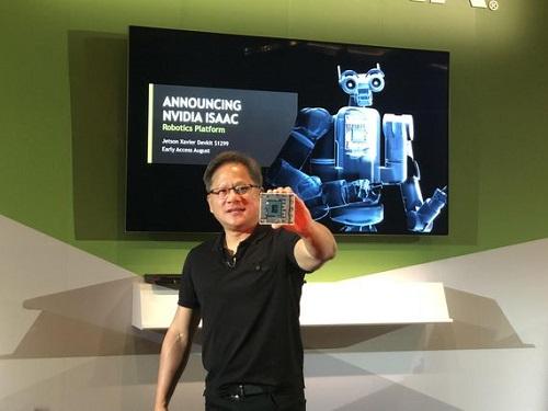 英伟达发布人工智能芯片 旨在打造机器人大脑