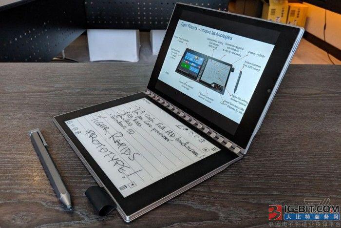 英特尔概念笔记本Tiger Rapids上手:E-INK屏替代键盘