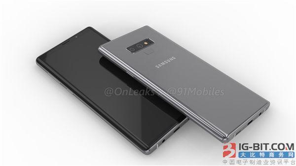 三星Galaxy Note 9保护壳曝光:配备背部指纹