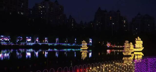 2500万盏LED灯!安徽省第三届徽园灯光秀璀璨上演