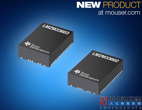贸泽电子即日起备货LMZM33602和LMZM33603电源模块