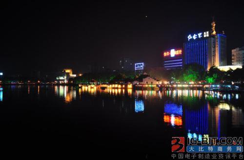 九江白水湖公园景观灯改造预计月底完成