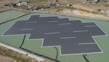 晶科能源日本最大的水上光伏项目并网发电