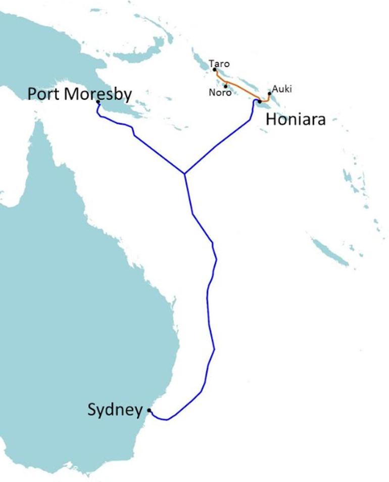 新加坡Vocus承建所罗门群岛海底光缆系统