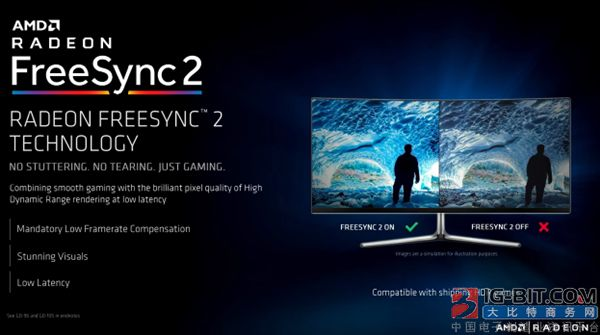 "AMD宣布FreeSync 2 HDR:显示器选购新""黄金""标准"