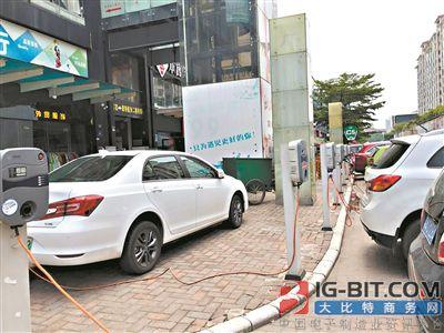 新能源汽车五千充电桩 四成被占用